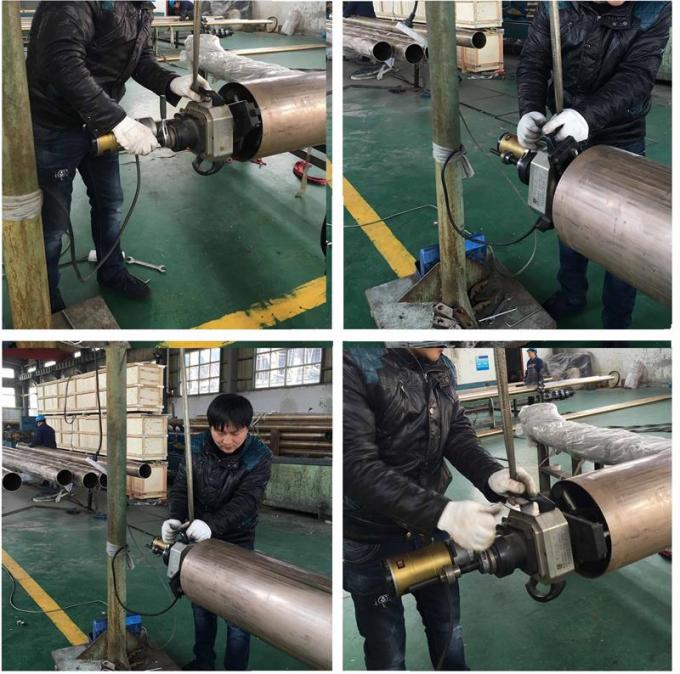 ID - Mounted Pipe Beveling Machine With Air Driven Working Range 28-76mm