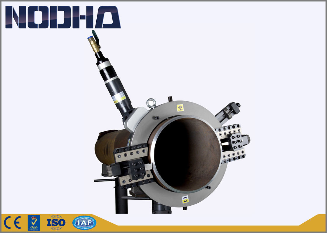 Pneumatic driven pipe cold cutter clamshell cutting